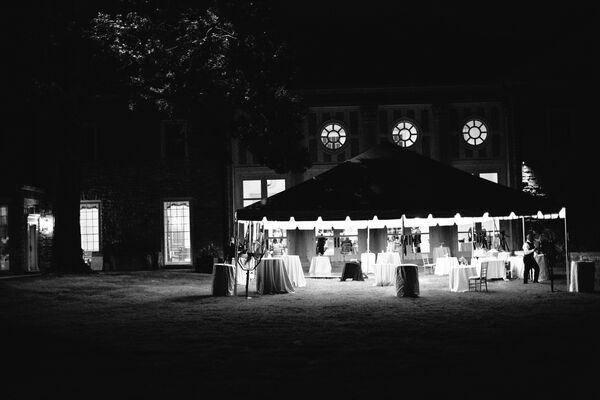 Tented Mansion Wedding Reception