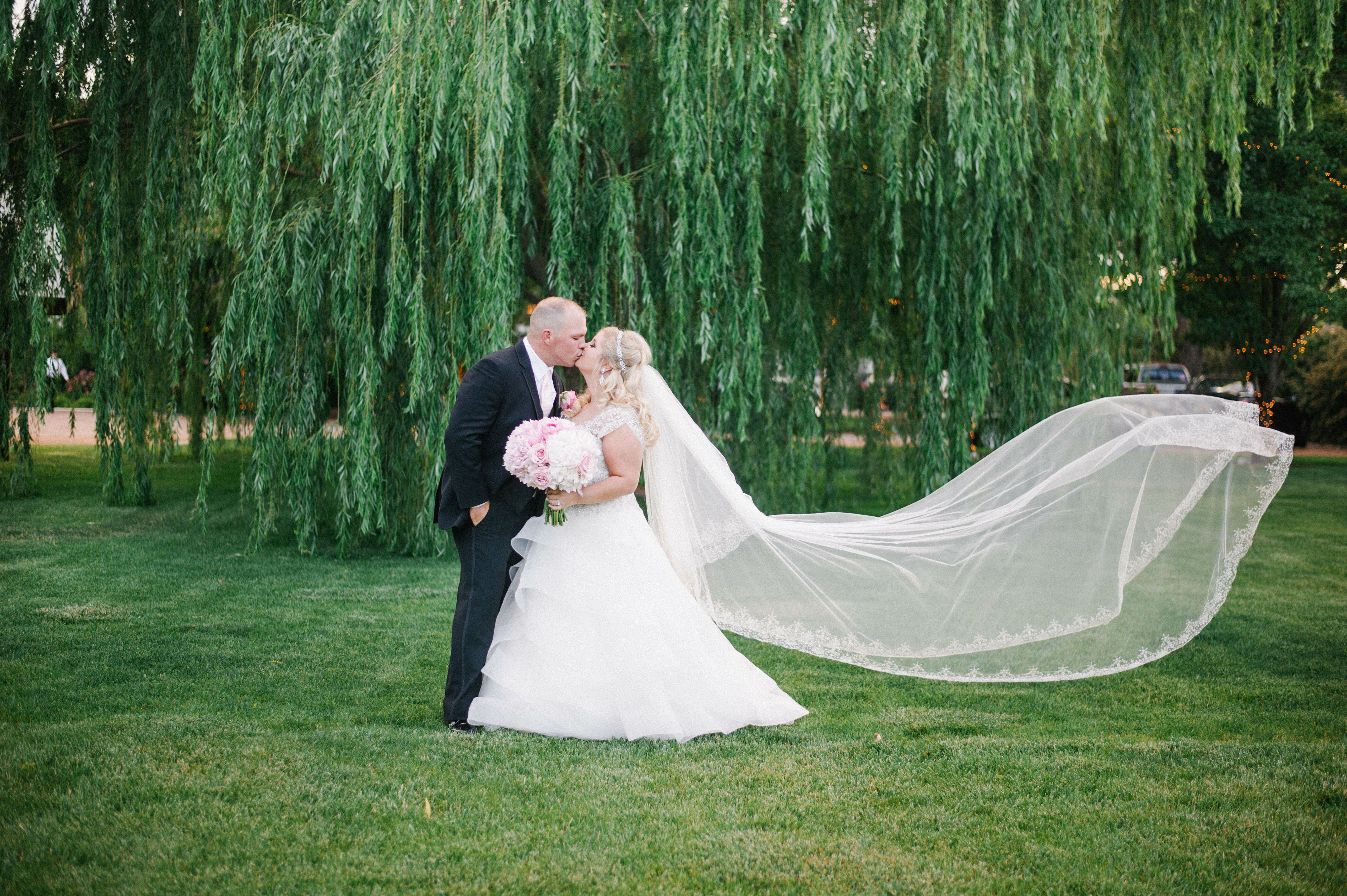 A pink romantic wedding at a private residence in for 5 elements salon albuquerque