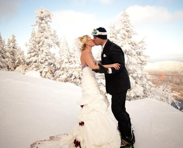 A Winter Mountain Wedding At Stowe Lodge In Vermont