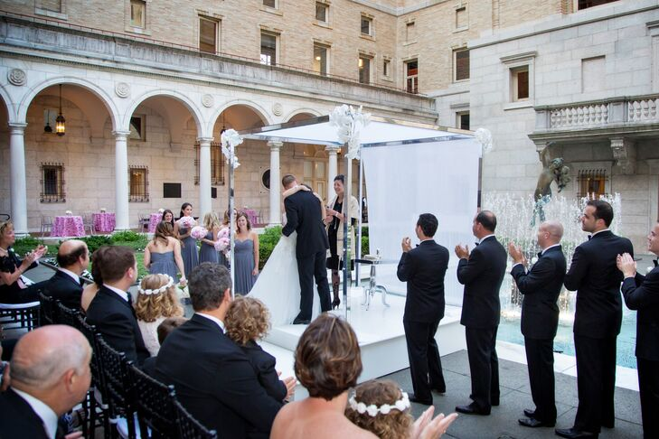 Boston Public Library Courtyard Jewish Wedding Ceremony