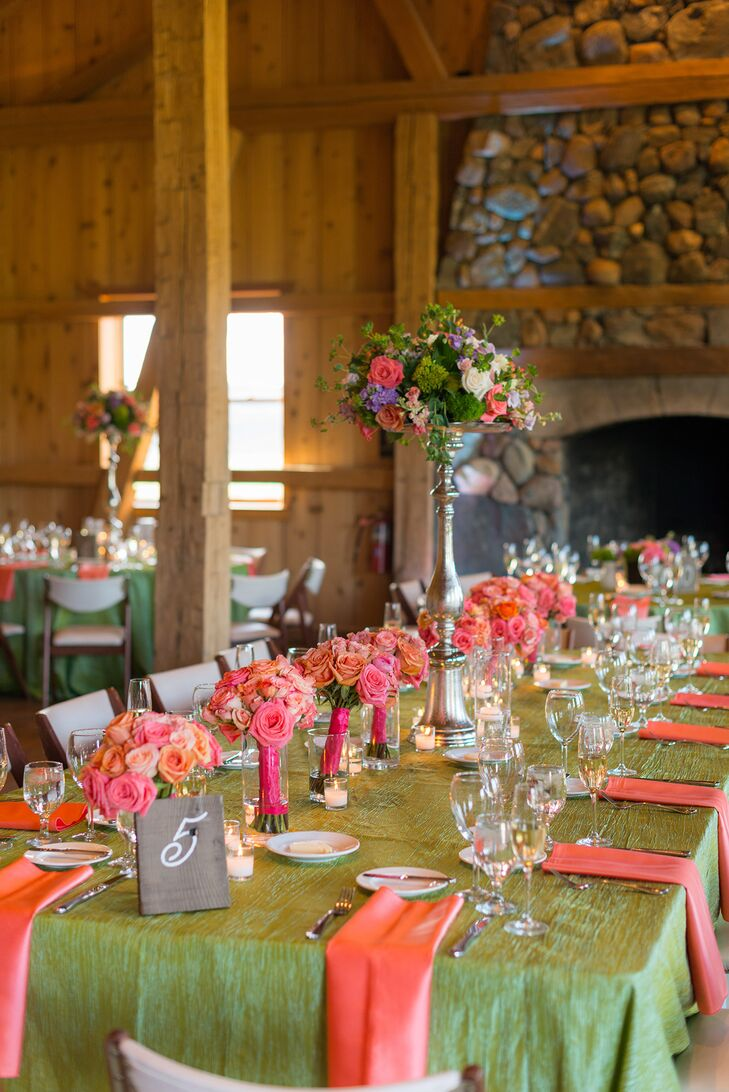 Colorful Reception at Devil's Thumb Ranch