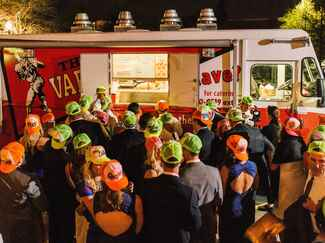 Wedding reception food truck late night