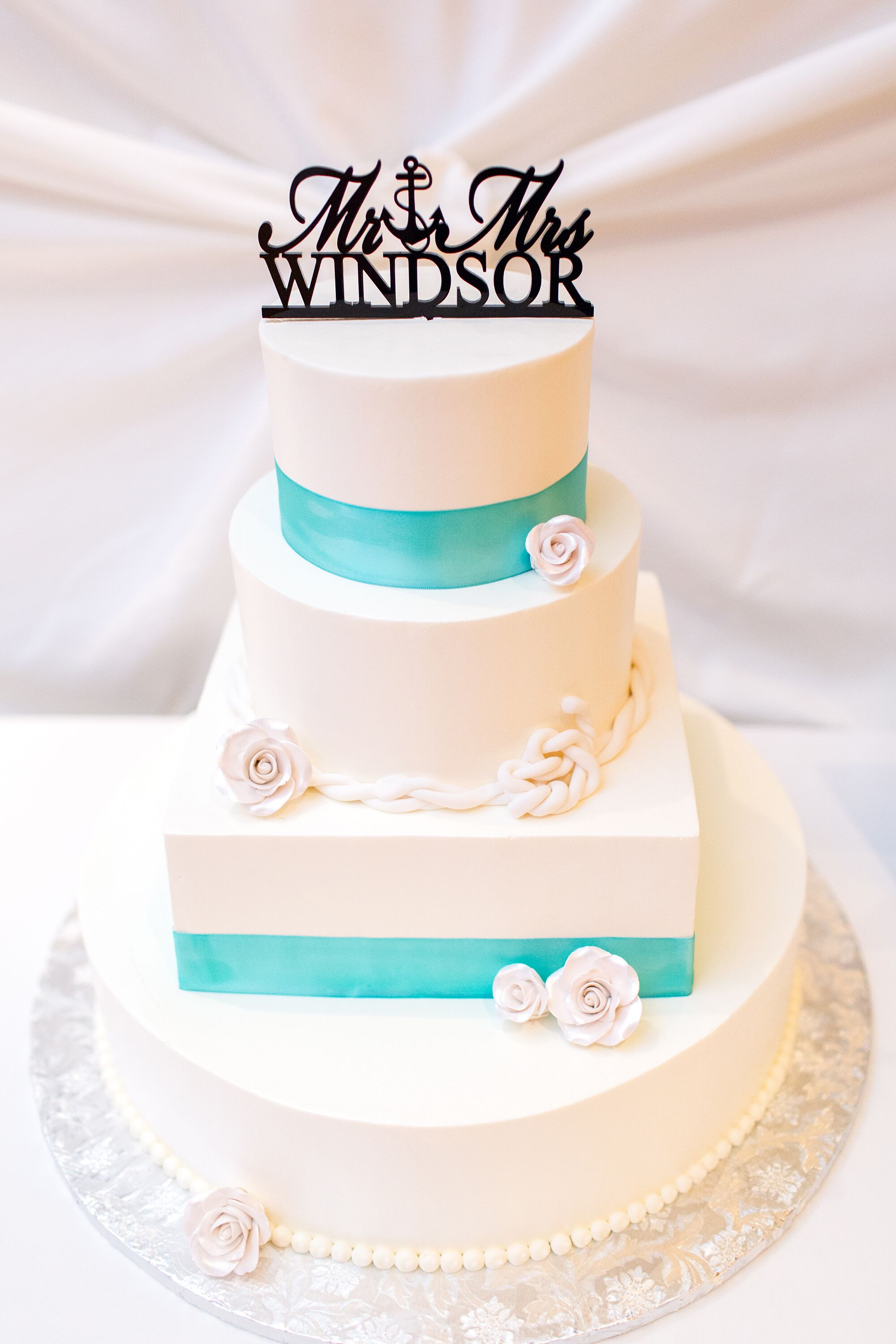 Teal and turquoise wedding