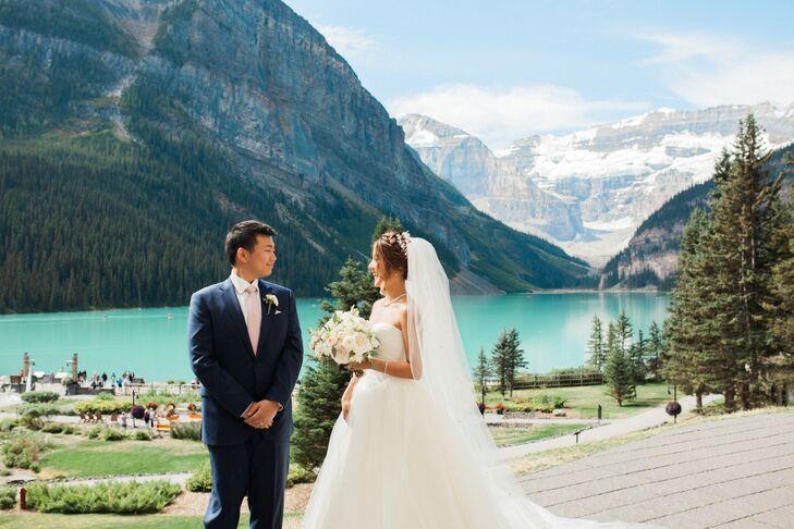 A Clic Wedding At The Fairmont Cau Lake Louise In Alberta