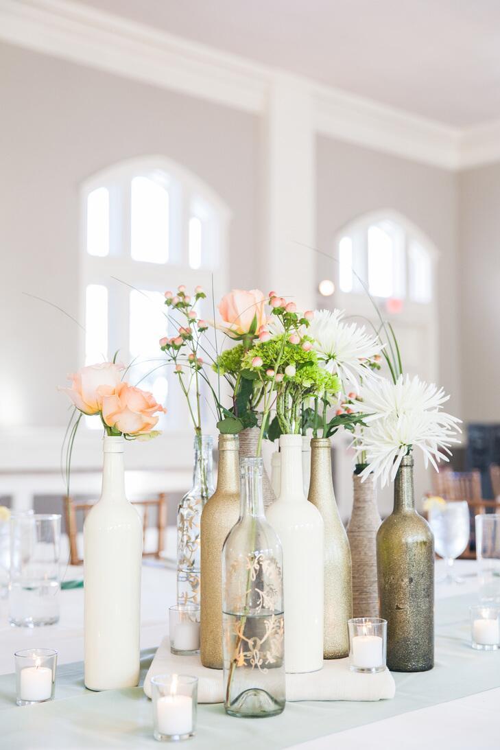 7 wine bottle decor ideas to steal for your vineyard wedding crazyforus. Black Bedroom Furniture Sets. Home Design Ideas
