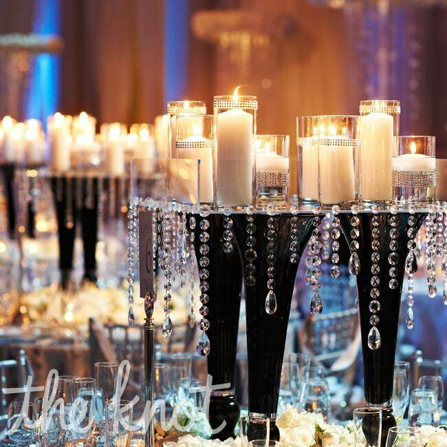 Crystal And White Wedding Theme: Crystal And Candle Tablescapes