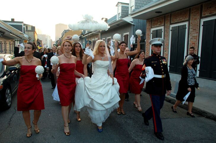 French Quarter Second Line for Marine Corps Wedding