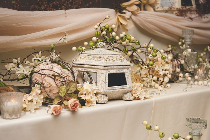 Antique Decorations and Flower Branches