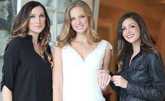 Models show off jewelry from Desiree for KV Bijou's jewelry line