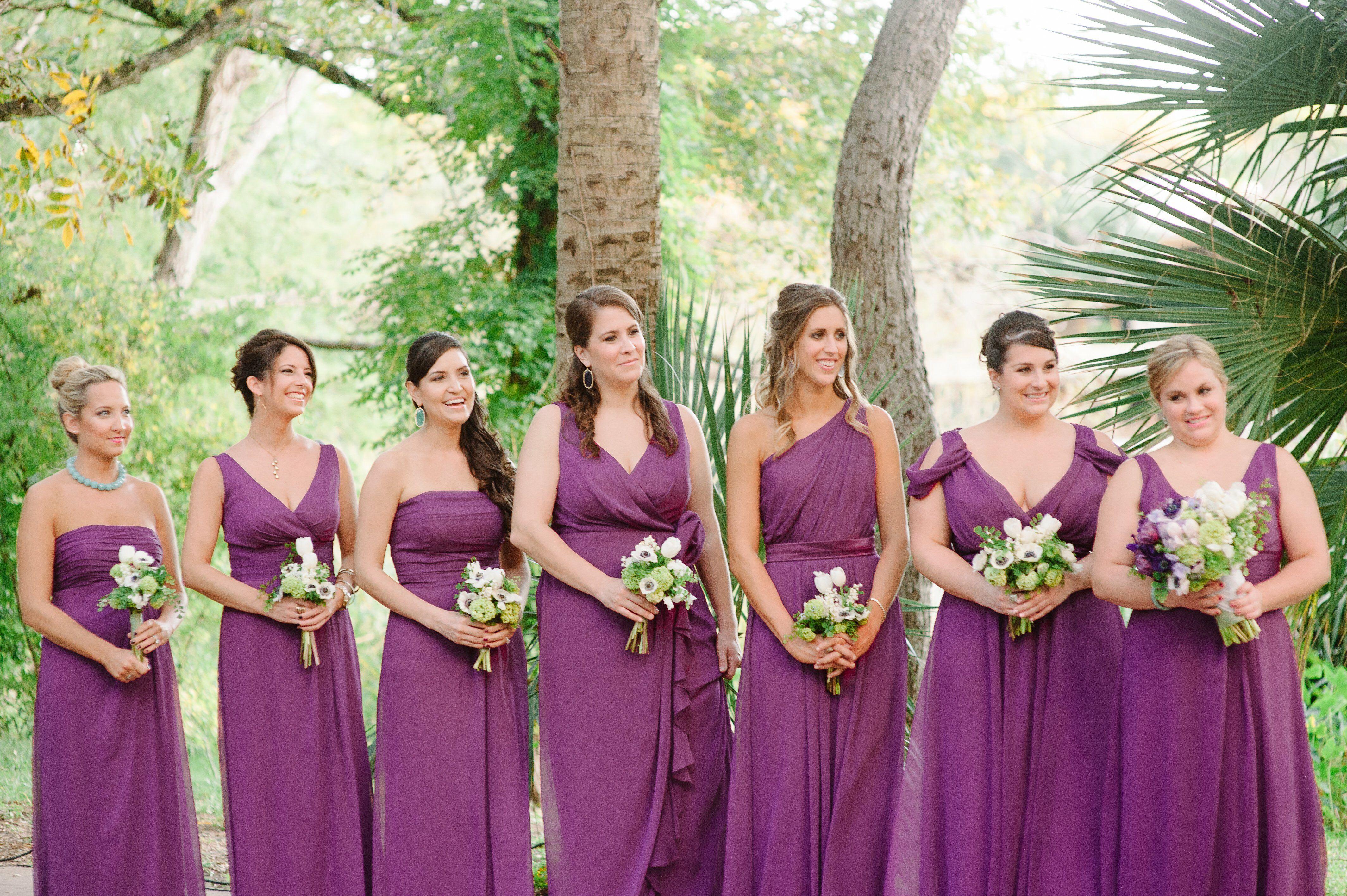Purple Dessy Bridesmaid Dresses