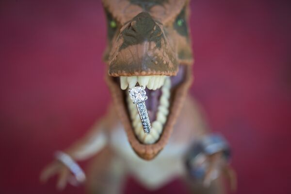 Playful Dinosaur Wedding Accents