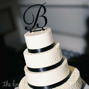Four Layer Black White Cake