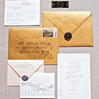 real vintage wedding invitations