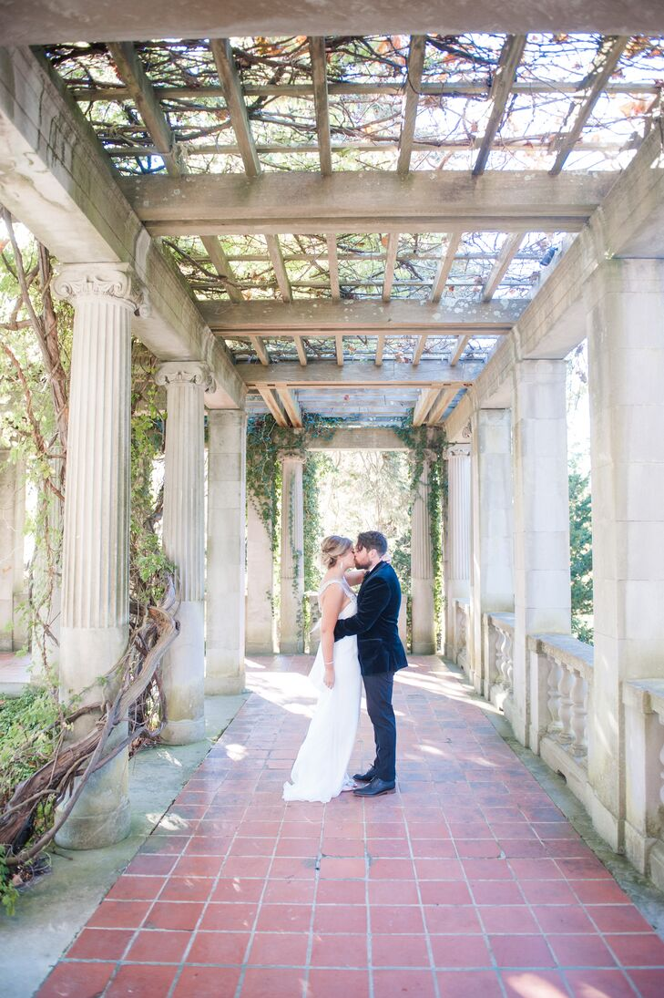 Kat Josh Real Wedding At Eolia Mansion Harkness Memorial State Park