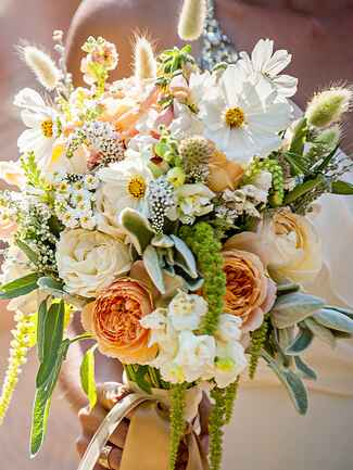 Daisy and veronica rustic wildflower wedding  bouquet