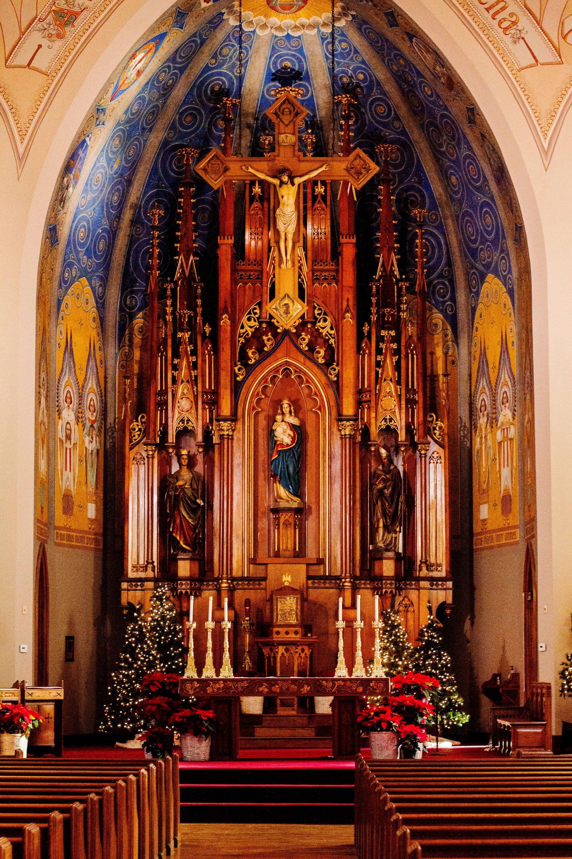 Saint Mary Catholic Church Altar Backdrop