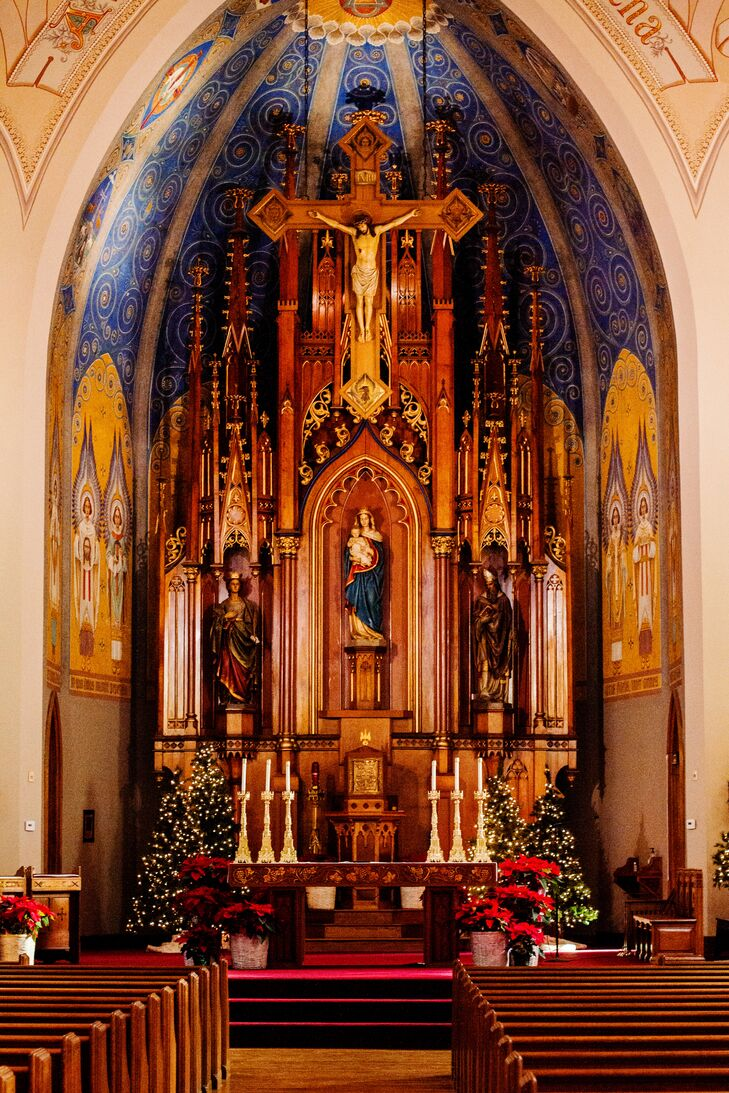 saint mary catholic church altar backdrop