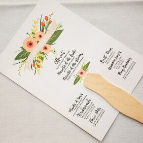 Summer Wedding Ceremony Program Fans