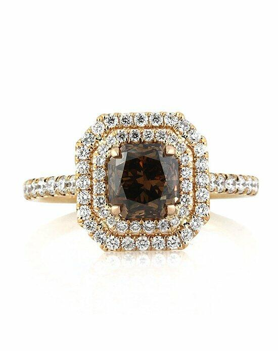 Mark Broumand 2.21ct Fancy Dark Orange Brown Radiant Cut Diamond Engagement Ring Engagement Ring photo