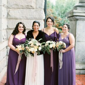 Purple And Burgundy Bridesmaids
