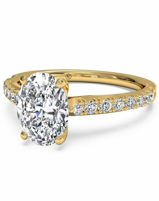 Ritani Oval Cut French-Set Diamond Band Engagement Ring in 18kt Yellow Gold (0.23 CTW) Engagement Ring photo