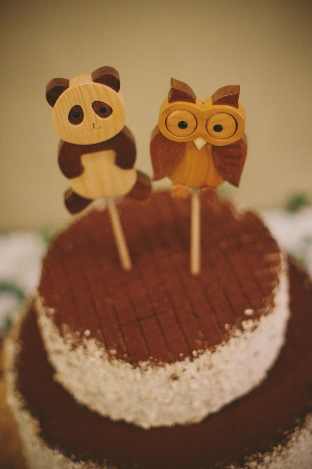 Owl and Panda Cake Toppers