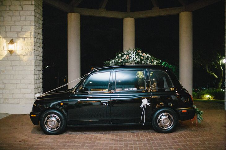 Classic Black Recessional Just Married Car