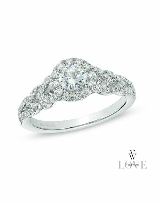 Vera Wang LOVE at Zales Vera Wang LOVE Collection 3/4 CT. T.W. Diamond Frame Engagement Ring in 14K White Gold  19963032 Engagement Ring photo