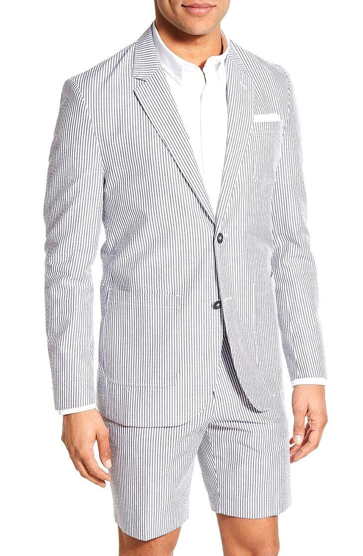 seersucker blazer mens beach wedding attire