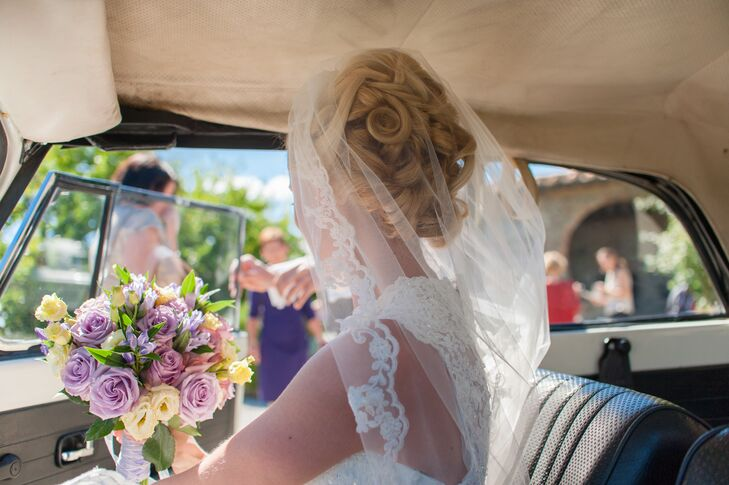 Bride With Veil and Colorful Bouquet