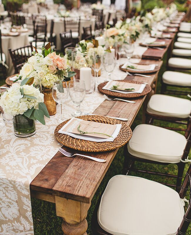Patterned Tablecloths Sms Photography Blog Theknot