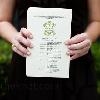 Real DIY Wedding Programs