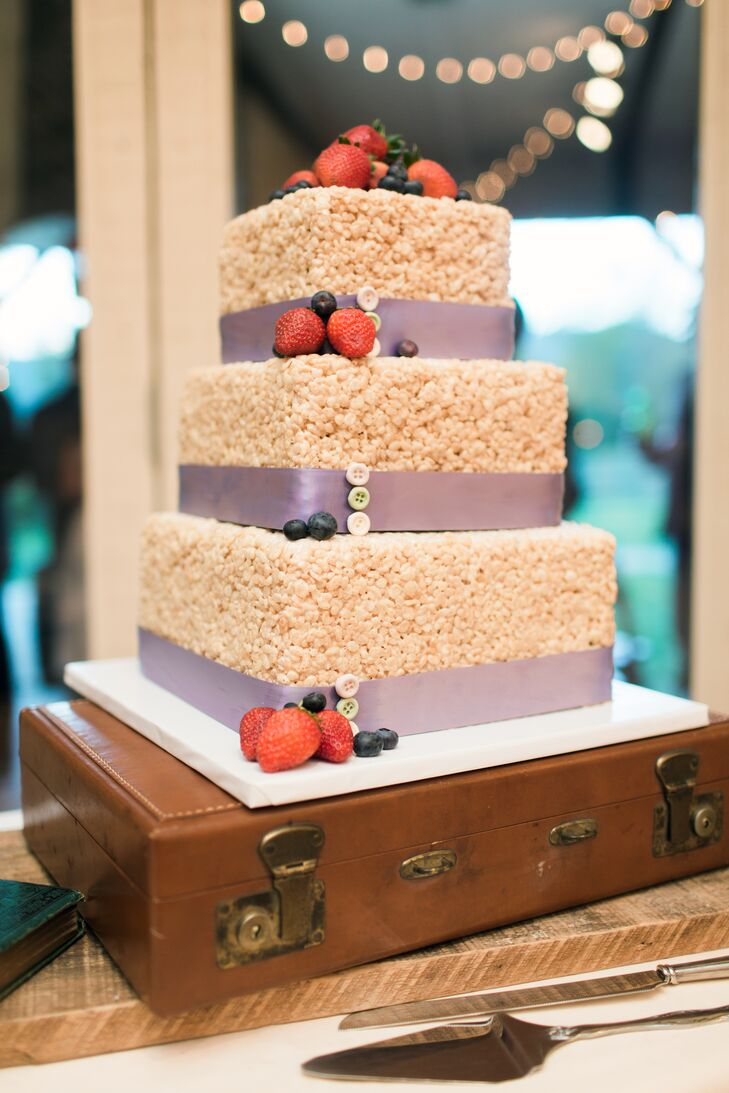 Square Rice Krispies Treats Cake