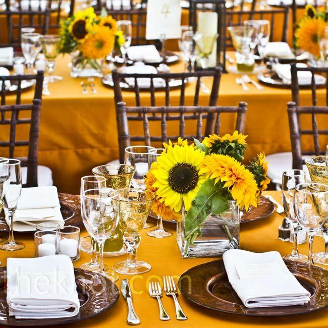 sunflower centerpieces