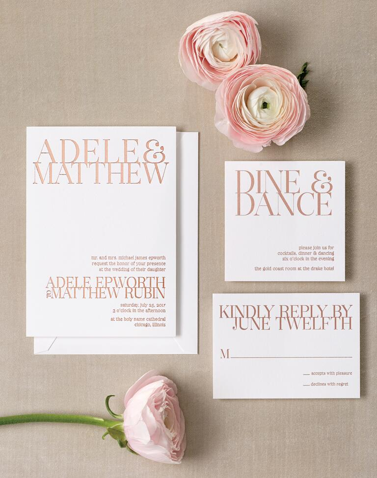 Fabulous Gold Foil Wedding Invitations – Wedding Invitations Gold Coast