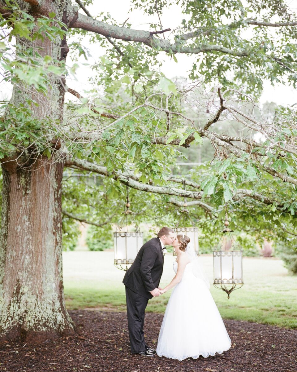 A Classic Aqua And White Rose Hall Event Center Wedding In