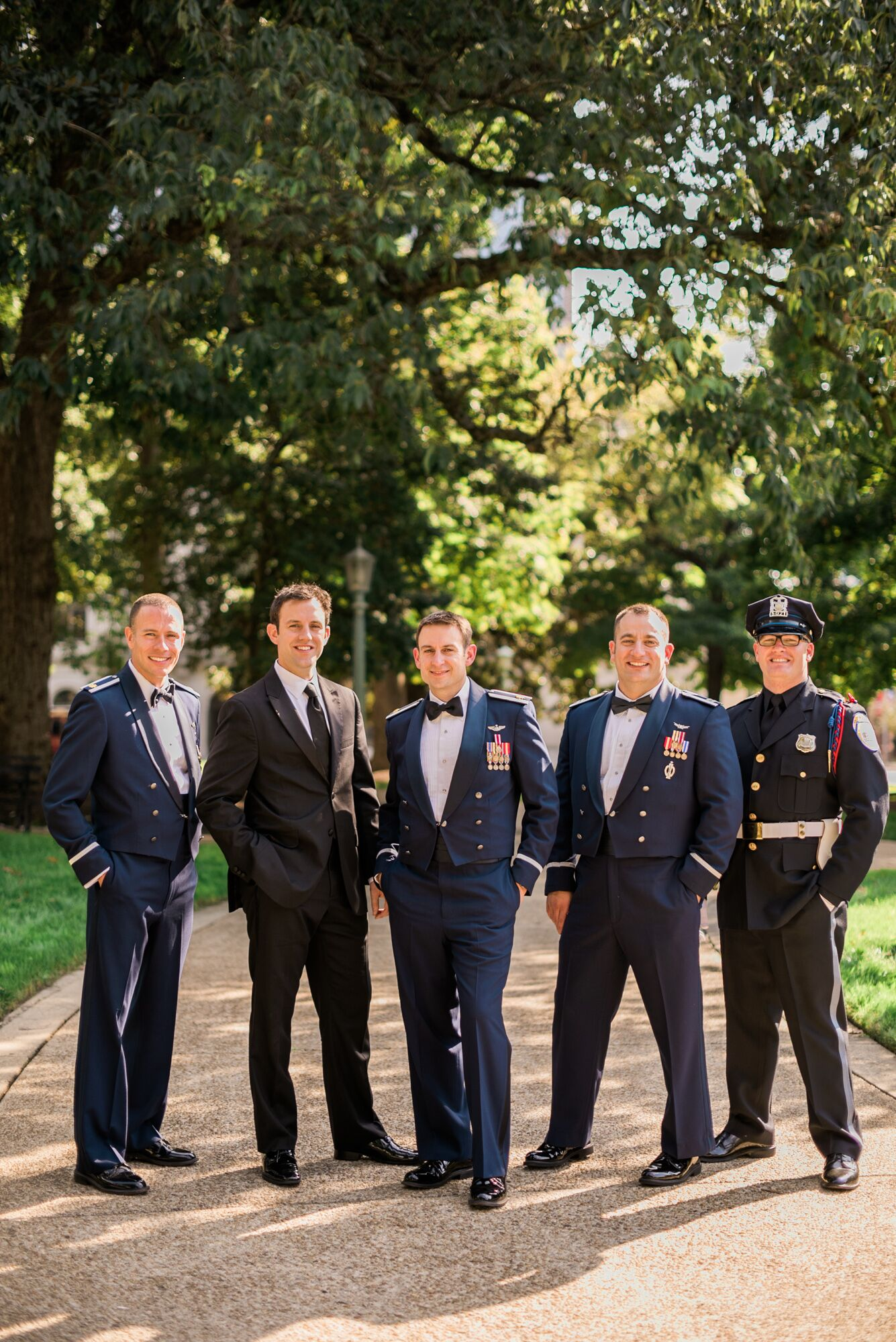 Traditional Military Uniform Groomsmen Attire