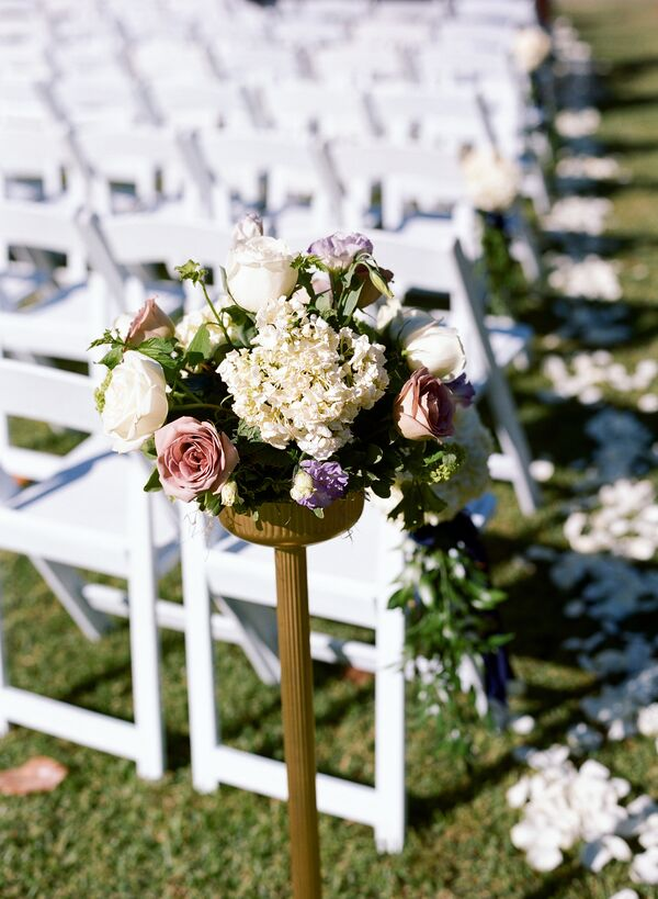 Hydrangea, Lavender and Garden Rose Aisle Markers