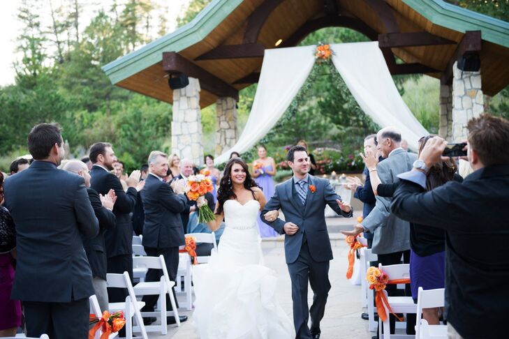 Cara and Josh Recessional at Cielo at Castle Pines
