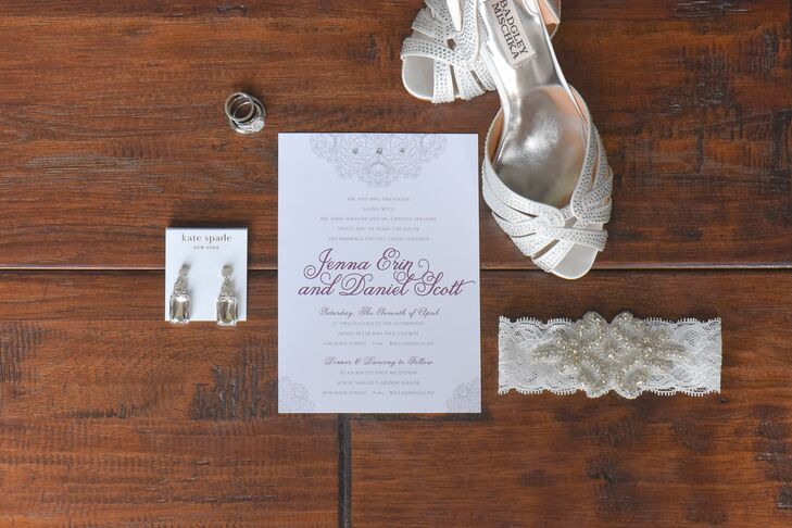 SangriaColored Calligraphy Wedding Invitations