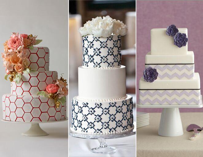 Geometric Wedding Cake Decoration