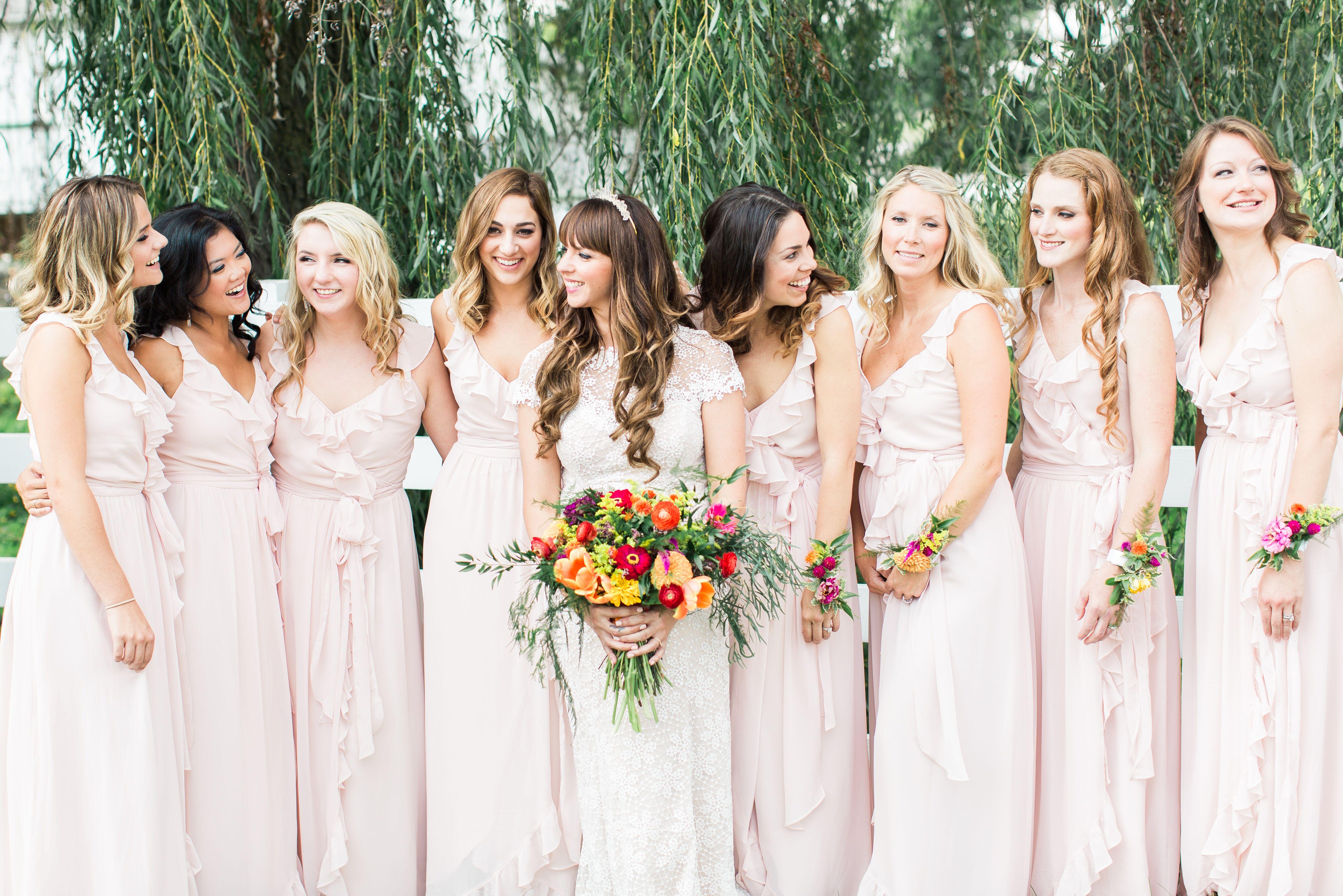 Bohemian bridesmaid dresses joanna august polly blush bridesmaid dress ombrellifo Image collections