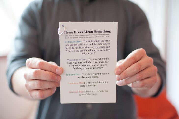 Sentimental Microbrewery Wedding Reception Beer List
