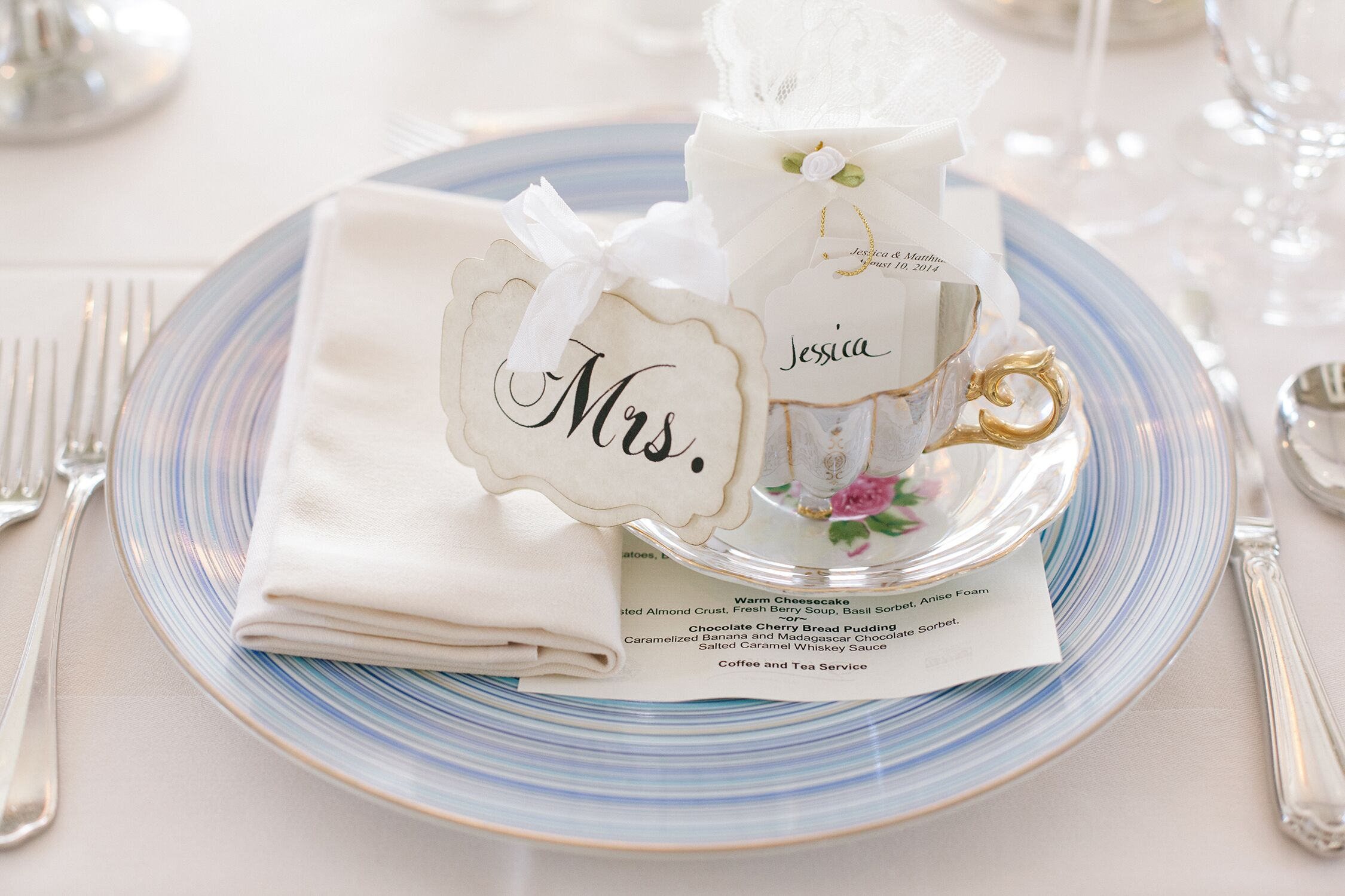 Vintage Teacup and Saucer Wedding Favors