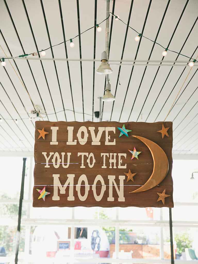 Love quote sign for a rustic wedding