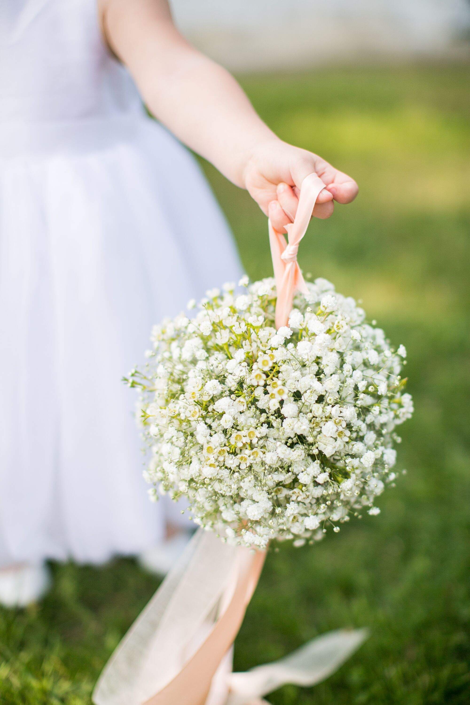 Baby S Breath Flower Girl Pomander
