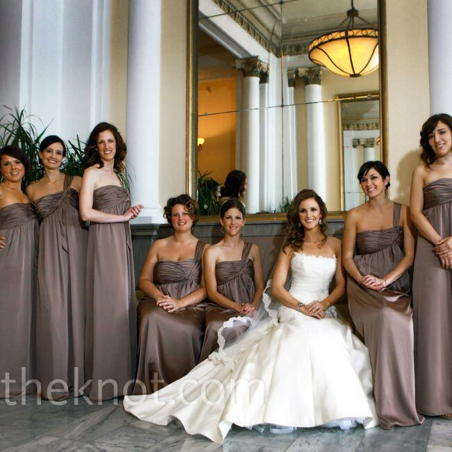 Bronze Bridesmaid Dresses