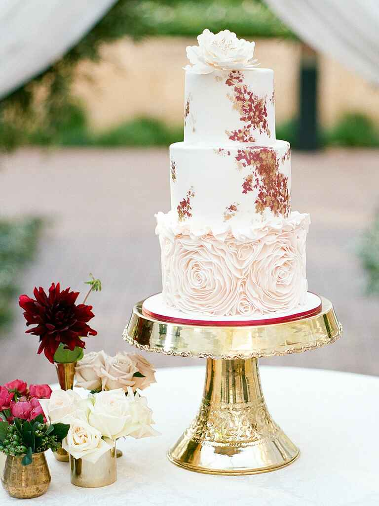 Hand Painted And Watercolor Wedding Cakes For Spring