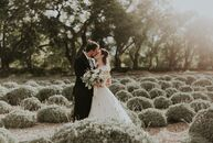 Tucked away on 25 acres of lavender fields, enormous cottonwood trees and lush formal gardens, Catie Russell and Sam Walker's fall wedding at the hist