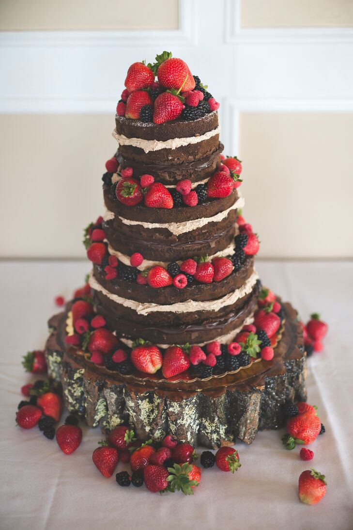 chocolate wedding cake with strawberry filling chocolate wedding cake with fruit 12815
